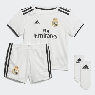Miniconjunto primera equipación Real Madrid Core White / Black CG0562