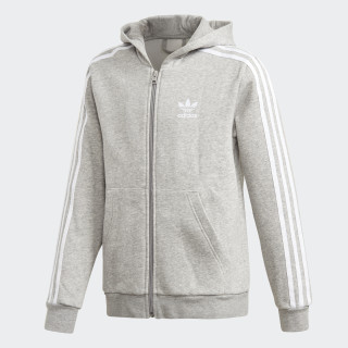 Full Zip Kapuzenjacke Medium Grey Heather / White DH2702