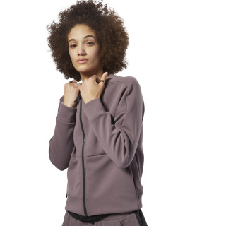 Training Supply Full-Zip Coverup Almost Grey D93920