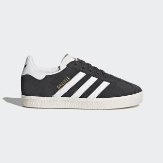 Zapatilla Gazelle Dark Grey Heather/Footwear White/Gold Metallic BB2508