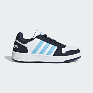 Hoops 2.0 Shoes Ftwr White / Bright Cyan / Legend Ink BB7330