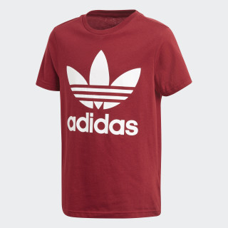 Playera Trifolio COLLEGIATE BURGUNDY/WHITE CF8548