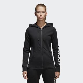 Chaqueta con capucha Essentials Linear Full Zip Black/White S97076
