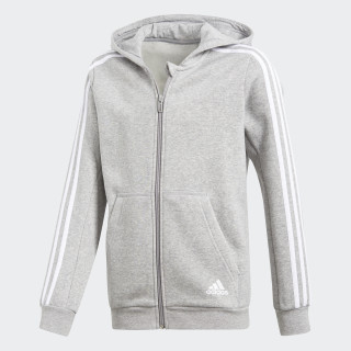 Essentials 3-Stripes Hoodie Medium Grey Heather/White CF6584