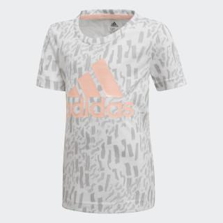 Camiseta Badge of Sport WHITE/GREY TWO F17 DJ1468