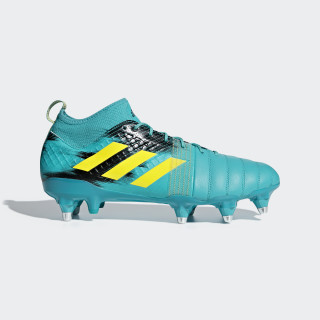 Kakari X Kevlar Soft Ground Boots Hi-Res Aqua / Shock Yellow / Core Black AC7678