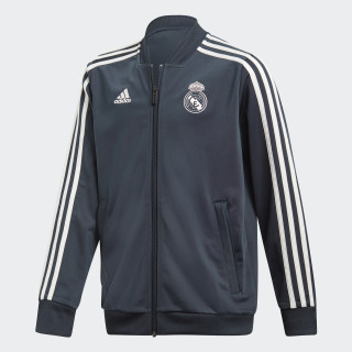 Chamarra Real Madrid Poliéster 2018 TECH ONIX/CORE WHITE CW8635