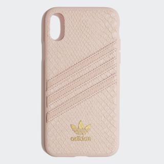 Snake Molded iPhone X Schutzhülle Clear Pink / Gold Met. CK6215