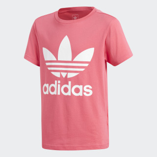 Trefoil Tee Real Pink / White CY2296