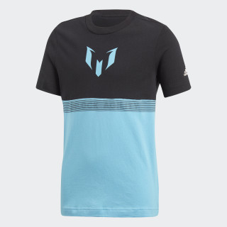 Camiseta Messi BLACK/BRIGHT CYAN CF7003