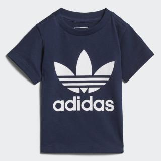 Trefoil T-shirt Collegiate Navy / White D96099