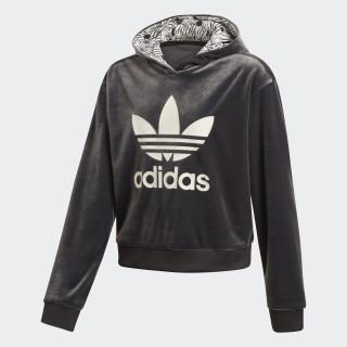 Zebra Crop hoodie Black / Clear Brown D98909