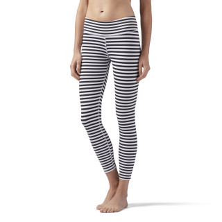 Legging Striped White / Black CF8710