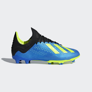 X 18.1 Firm Ground Cleats Football Blue / Solar Yellow / Core Black DB2428