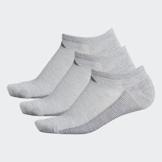 Climacool Superlite Stripe No-Show Socks 3 Pairs Light Grey CJ0604