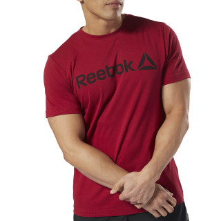 Reebok Linear Read Tee Cranberry Red DH3782