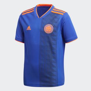 Camiseta Oficial Selección de Colombia Visitante Niño 2018 BOLD BLUE/SOLAR RED BR3493