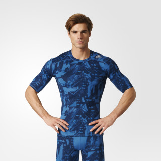 Playera Techfit Base Graphic PRINT/CORE BLUE BK1192