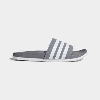 Adilette Cloudfoam Plus Stripes Slides Grey / Cloud White / Grey B42115