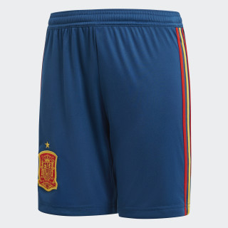 Shorts Oficial Selección de España Local Niño 2018 TRIBE BLUE S14/RED/BOLD GOLD BR2710
