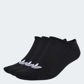 Trefoil Liner Socks 3 Pairs Black/White S20274