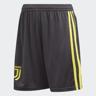 Juventus Derde Short Jeugd Carbon / Shock Yellow CF3508