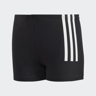 Back-To-School 3-Stripes Swim Boxers Black / White DL8872
