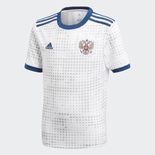 Camiseta Oficial Selección de Rusia Visitante Niño 2018 WHITE BR9069