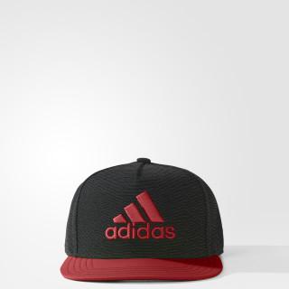 X Flat-Brim Hat Dark Grey Heather / Red / Grey BQ1452
