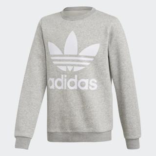 Fleece Crew Sweatshirt Medium Grey Heather / White DH2706