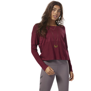 Mesh Long Sleeve Layer Rustic Wine CZ9467
