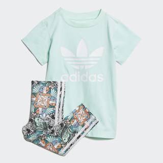 Zoo T-Shirt Set Clear Mint / White D98813