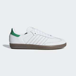 Samba OG Shoes Ftwr White / Green / Gum5 D96783