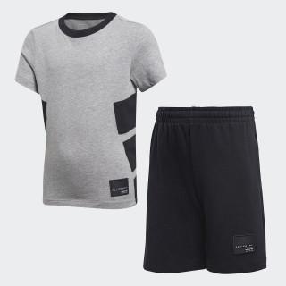 Conjunto Camiseta y Pantaloneta EQT MEDIUM GREY HEATHER/BLACK CD8425