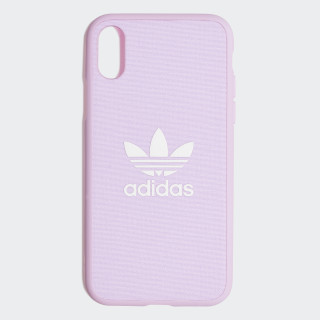 Fabric Snap Case iPhone X Clear Pink / White CK6185