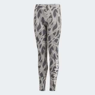 Linear Printed Tights Mgh Solid Grey / Grey Five / White DJ1306