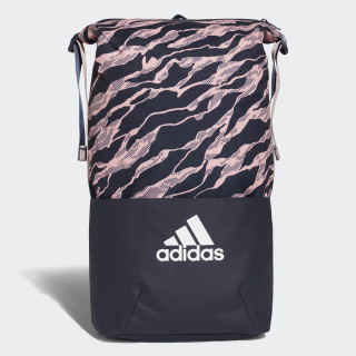 adidas Z.N.E. Core Graphic Backpack Collegiate Navy / Clear Orange / White DM2792