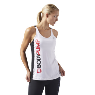 LES MILLS® BODYPUMP™ Tank With Built In Bra White CD6219