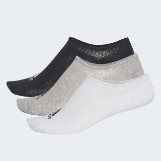 Performance Invisible Socks 3 Pairs Medium Grey Heather/White/Black CV7410