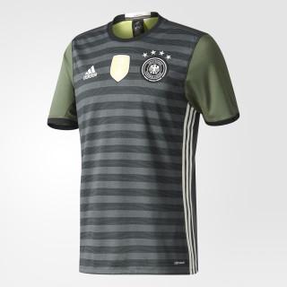 UEFA EURO 2016 DFB Auswärtstrikot Dark Grey Heather/Off White/Base Green AA0110