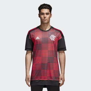 Camisa CR Flamengo Pré-Jogo 1 BLACK/COLLEGIATE RED CF1583