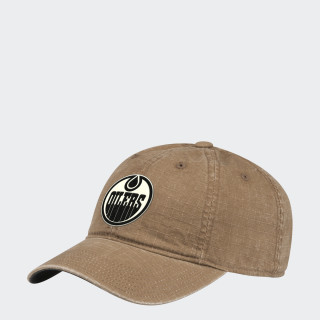 Oilers Adjustable Slouch Ripstop Cap Nhleoi CY1242