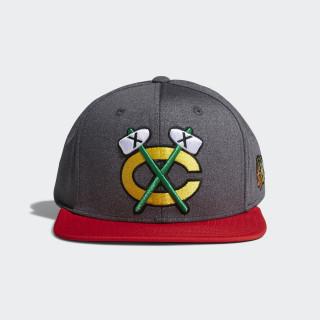 Blackhawks Snapback Heathered Grey Hat Multi CY0489