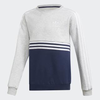 Authentics Crew Sweatshirt Light Grey Heather / Collegiate Navy / White DH4851