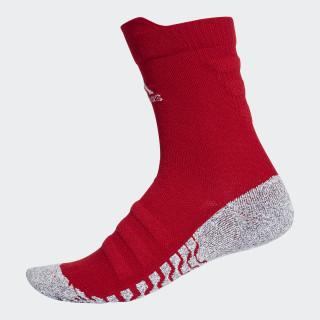 Alphaskin Traxion Lightweight Cushioning Crew Socks Power Red / White CV7577