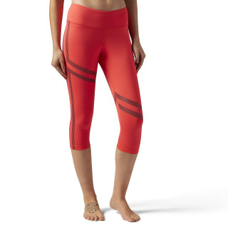 Linear 3/4 Legging Glow Red BR8996