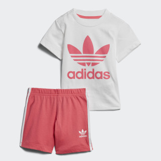 Conjunto Shorts y Playera WHITE/REAL PINK S18 REAL PINK S18/WHITE CE1996