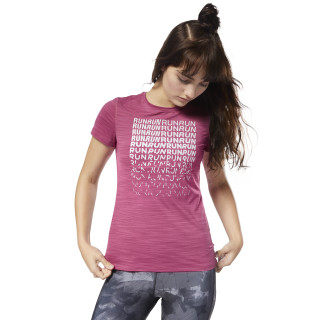 Running ACTIVCHILL  Graphic Tee Twisted Berry CY4623