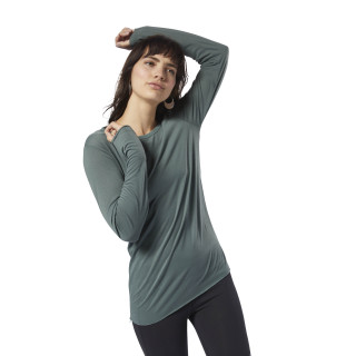 Supremium Long Sleeve Tee Chalk Green DH2001