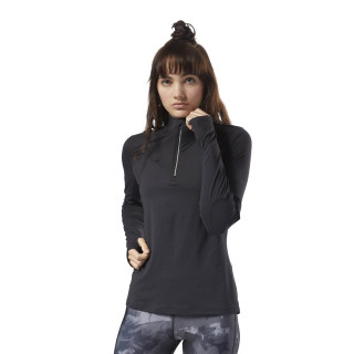 Running Thermowarm Touch Quarter-Zip Black CY4621